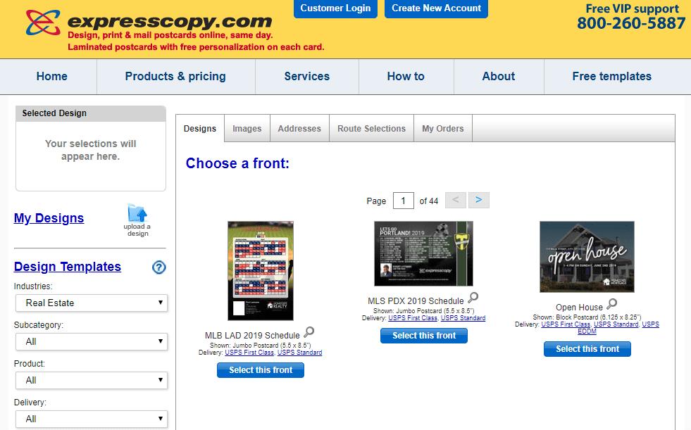 Express copy screenshot