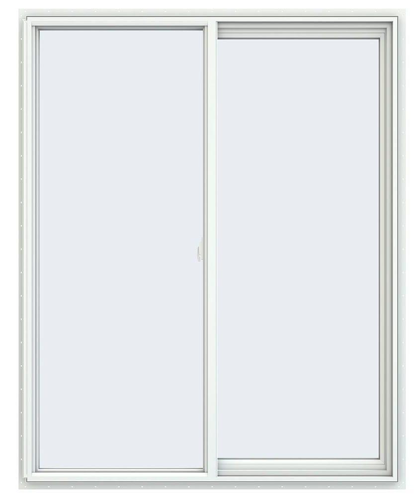 Jeld-Wen 47.5 in. x 59.5 in. V-2500 Series White Vinyl Right-Handed Sliding Window With Fiberglass Mesh Screen