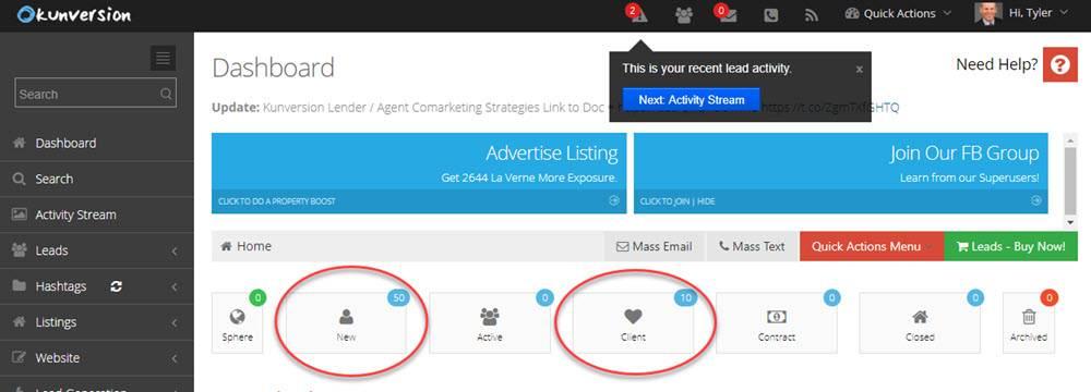 A Kunversion agent management module screenshot